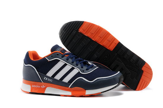 Mens Adidas Zx 900 Dark Blue Orange Reduced